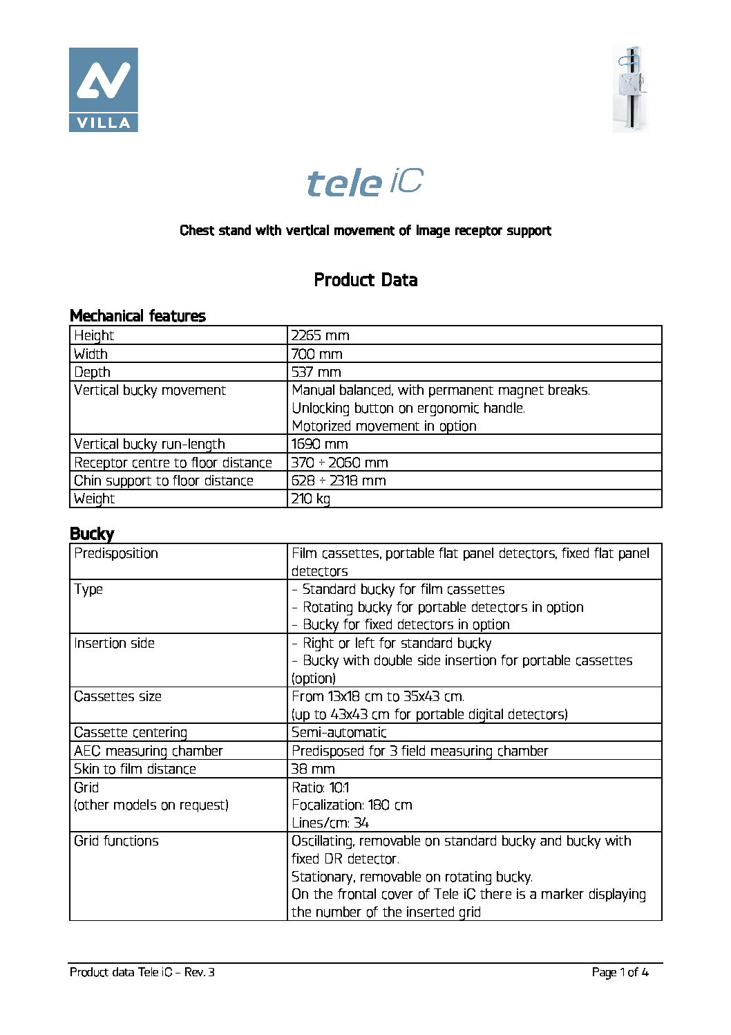 Moviplan Tele iC product data en