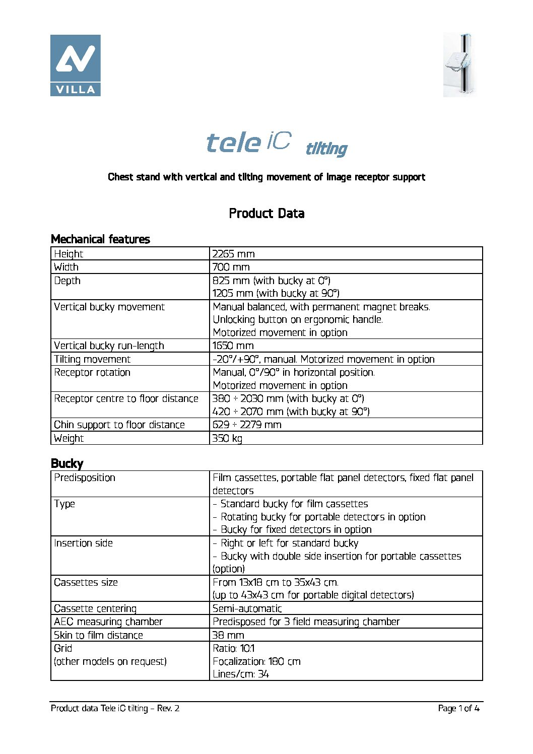 Moviplan Tele iC tilting product data en